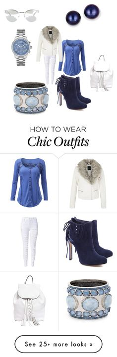 """""""Fashion"""" by gabbygutts on Polyvore featuring Schutz, Rebecca Minkoff, Kevin Jewelers, Chico's, GUESS and Fendi"""
