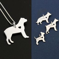 Cane Corso necklace sterling silver dog breeds pendant w/ Heart - Love Pet Jewelry Italian chain Women Best Cute Gift , Memorial Gift