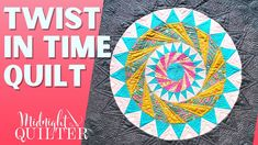 Twist in Time English Paper Piecing Quilt | Angela Walters the Midnight Quilter - YouTube Machine Quilting Tutorial, Quilting Tutorials, What Is English, Midnight Quilt Show, Teal Fabric, English Paper Piecing, Sewing Hacks, Sewing Ideas, Quilts