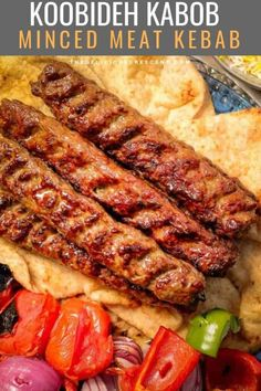 Kabob Koobideh (Minced Meat Kebab) Koobideh kabob are the most juicy and amazingly flavorful middle eastern ground meat kebabs ever! Beef Kabob Recipes, Grilling Recipes, Cooking Recipes, Lamb Mince Recipes, Minced Beef Recipes, Minced Meat Recipe, Adana Kebab Recipe, Meal Planning, Kitchens