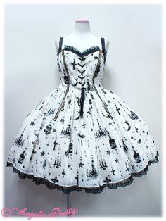 Angelic Pretty Holy Lantern JSK - gothic lolita, EGL, white, black, crosses