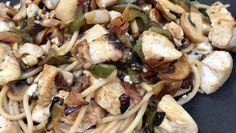 Espaguetis lowcarb con verduras y pollo - Blog MASmusculo