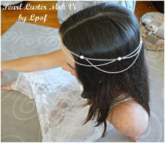 Bridal Headpiece Head Piece Head Jewelry Chain Headpiece Bridal Accessory Bridesmaid Accessory Hair Accessory Boho Headpiece Pearl Luster Vi by thelittlepackof5 on Etsy https://www.etsy.com/listing/223197883/bridal-headpiece-head-piece-head-jewelry