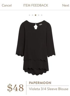 Papermoon Violeta 3/4 Sleeve Blouse