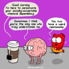 coffee comics heart and brain