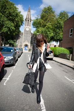 Proves that you can't wear too much black.  #street #chic #black