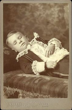Nicely dressed boy - There seems to be more post mortem photos of females of all ages than photos of boys and men.