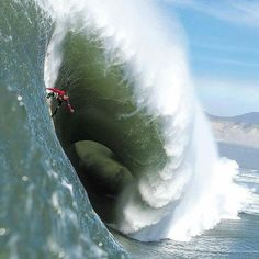 """Jaws (Peʻahi, Hawaiian name) off Maui. The second most dangerous big wave on Earth (Teahupo'o in Tahiti being the first). ~ Miks' Pics """"Atypical Surfing Shots"""" board @ http://www.pinterest.com/msmgish/atypical-surfing-shots/"""