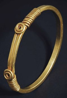 """ancientjewels: """" Gold Roman bracelet, c. 2nd century CE. From Christie's Auctions. """""""