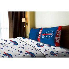 NFL Buffalo Bills Sheet Set, White