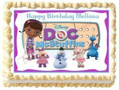 DOC MCSTUFFINS # 2 Edible image cake topper 1/4 sheet, 1/2 sheet, cupcakes and more sizes available