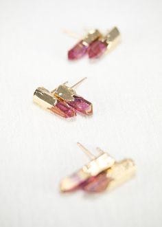 Pendientes de Keilani  rosa pendiente punto por kealohajewelry