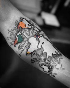 My world so far. much to discover! - My world so far… much to discover! - - My world so far… much to discover! – My world so far… much to discover! – My world so far… much to discover! – My world so far… much to discover! Tattoos Arm Mann, Forarm Tattoos, Body Art Tattoos, Small Tattoos, Cool Tattoos, Tattoo Forearm, Tattos, Upper Arm Tattoos, Arm Tattoos For Guys