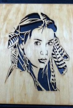 Indian girl uploaded in My Projects: Cut from 1/4 inch Baltic Birch using 3/0…