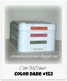 Color My Heart Color Dare: Color Dare #153 - Hollyhock, Sunset, Olive, & White Daisy