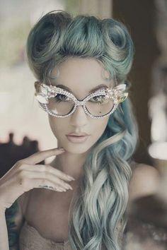 Pastel hair style