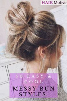 fancy-casual-sexy-boho-sporty-and-beyond-theres-one-hairstyle-that-can-accommodate-any-mood-were-talking-about-the-messy-bun-of-course/ SULTANGAZI SEARCH Messy Bun For Short Hair, Cute Messy Buns, Messy Hair Buns, Perfect Messy Bun, Bun Hairstyles For Long Hair, Cute Hairstyles, Hairstyles Videos, Casual Hairstyles, Wedding Hairstyles