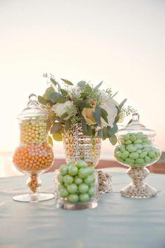 REVEL: Green + Peach Candy Bar wedding inspiration