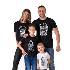 12094da4 Matching Family T Shirts, My T Shirt, Black White, Father, Beer,