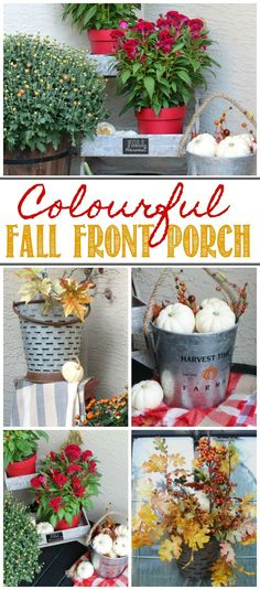 Colorful fall porch
