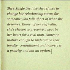 Relationship status... single