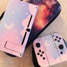 Pastel Starry Sky Skin Wrap for Nintendo Switch Nintendo Switch Accessories, Gaming Accessories, Gaming Room Setup, Gaming Desk, Animal Crossing, Nintendo Decor, Kawaii Games, Bubble, Costume Ideas