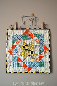 Family Ever After....: Mini Quilt: Hadley Woven Star