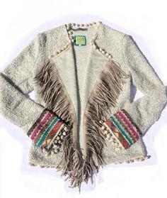 Boho Vest soft grey  Mooi vest handgemaakt en ontworpen door Dressmijo stof is gebreide ...