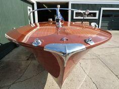 1965 Riva Super Ariston 23' foot with Riva-Chrysler 413 dual quad V8 engine premium restoration by Macatawa Bay Boat Works