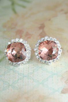 New colour - Blush Rose! | blush earrings | blush crystal earrings | swarovski blush rose | New colour! - Blush Rose | blush wedding | dusty pink wedding | www.endorajewellery.etsy.com