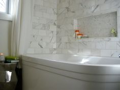 Tub niche. Via 6th Street Design School | Kirsten Krason Interiors : Feature Friday: Moth Design