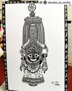 Mandala Art Lesson, Mandala Artwork, Doodle Art Drawing, Mandala Drawing, Art Drawings Beautiful, Cool Art Drawings, Mandela Art, Indian Art Gallery, Ganesha Art