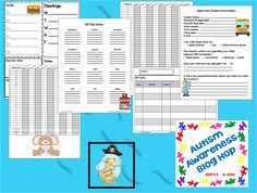 Learning Ahoy!!: Autism Awareness Blog Hop Teacher Freebie