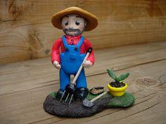 petit jardinier en polymère