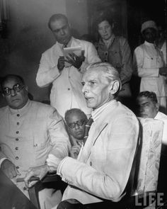 Muslim leader Mohammed Ali Jinnah holding press conference renouncing Indian Cabinet Plan & declaring intention to create Pakistan in 1946.  The beginning of The Partition of India which led to the creation of the sovereign states of the Dominion of Pakistan and India.  Photo: tumblr.com/indash/photos/reddit