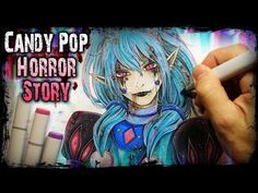 """""""CANDY POP""""(Horror Story) Creepypasta + Anime Drawing Story Drawing, Character Drawing, Horror Drawing, Copic Drawings, Purple Balloons, Led Pencils, Laughing Jack, Candy Pop, Creepypasta"""