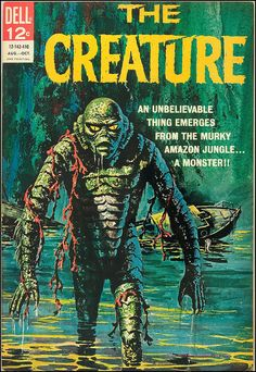 1964 Comic Book. The Creature classic horror comic with it's vintage cover art looks awesome.