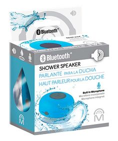 Blue Bluetooth Shower Speaker by CJ Global #zulily #zulilyfinds