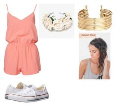 """""""Summer outing"""" by youtubecrazyxx ❤ liked on Polyvore featuring NLY Trend, Converse and H&M"""