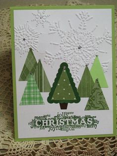 Stampin up Christmas trees