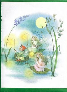 Fairy Book Print #12 This is an original vintage book print illustration salvaged from a 1982 childrens book of poetry. It would look beautiful framed and displayed like the work of art that it is. I think these Fairy prints would make any little girls bedroom extra special. The
