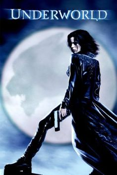 "Underworld"" ~ Kate Beckinsale, Underneath the city streets, amid the labyrinth of subway tunnels and gothic ruins, vampires and werewolves are embroiled in an all-out war that has been going on for centuries."