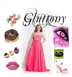 """""""Gluttony"""" by renee-lowrimore on Polyvore featuring Rachel Allan, NOVICA and Lime Crime"""