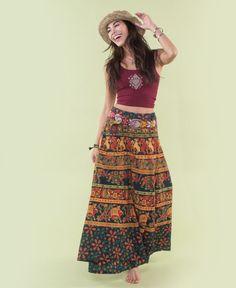 Tapestry Hippie Skirt | Wrap Skirt | Soul Flower