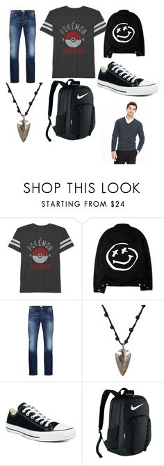 """""""Daniel oc 2"""" by eddsworld-style ❤ liked on Polyvore featuring JEM, Jack & Jones, Feathered Soul, Converse, NIKE, Banana Republic, men's fashion and menswear"""