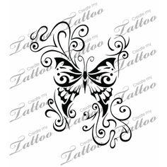 SBink Butterfly tattoo design