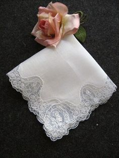 Vintage Fine Irish Linen Lace Wedding Handkerchief Hankie | eBay