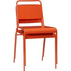 Use these bright stacking chairs ($80 each) as extra seating for parties year-round.