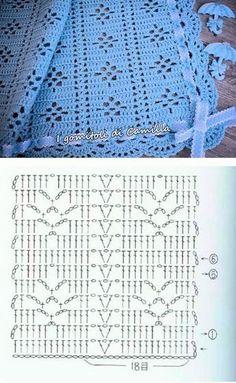 45 Ideas For Crochet Patrones Ganchillo - Diy Crafts - DIY & Crafts Hexagon Crochet Pattern, Crochet Bedspread Pattern, Crochet Diagram, Crochet Stitches Patterns, Crochet Chart, Crochet Motif, Crochet Designs, Crochet Top, Poncho Crochet