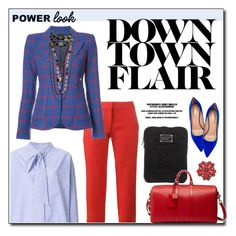 """""""Power Look"""" by hellodollface ❤ liked on Polyvore featuring Balenciaga, STELLA McCARTNEY, Smythe, Aquazzura, Marc by Marc Jacobs, Chanel, Gucci, girlpower and powerlook"""